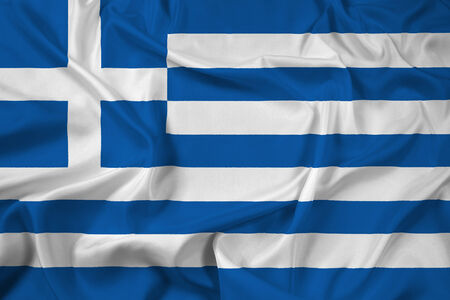 greece: Waving Greece Flag