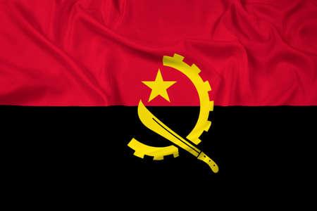 angola: Waving Angola Flag