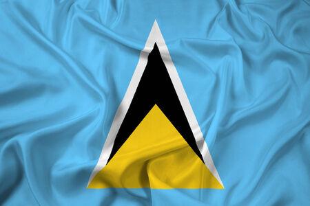 lucia: Waving Saint Lucia Flag Stock Photo