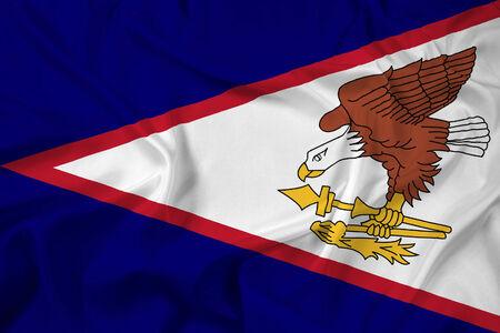 samoa: Waving American Samoa Flag Stock Photo
