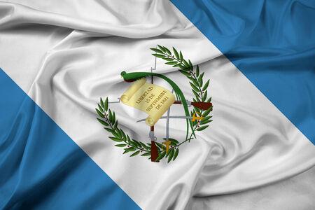 bandera de guatemala: Ondeando la bandera de Guatemala