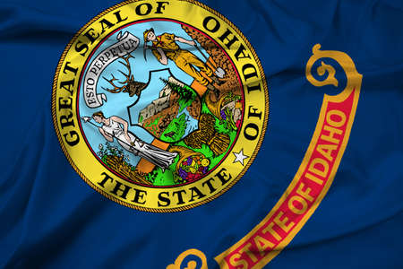 idaho state: Waving Idaho State Flag