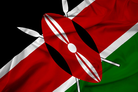 kenya: Waving Kenya Flag