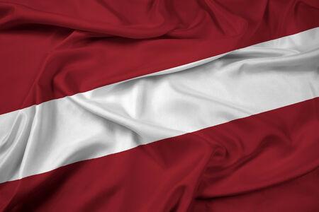 latvia: Waving Latvia Flag