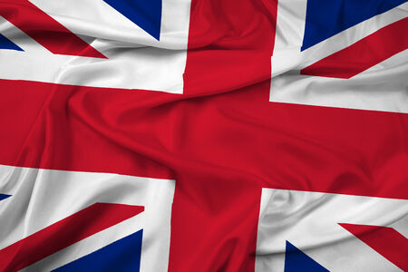 Waving United Kingdom Flag photo