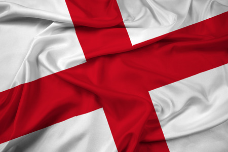 great britain flag: Waving England Flag