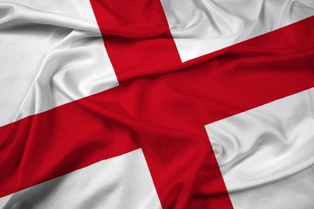 bandiera inghilterra: Waving Flag Inghilterra Archivio Fotografico
