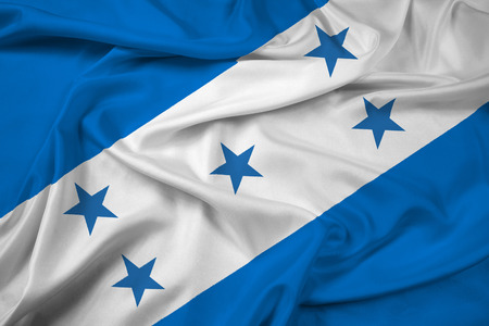 Waving Honduras Flag photo