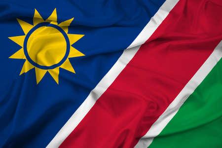 namibia: Waving Namibia Flag Stock Photo