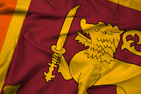 lanka: Waving Sri Lanka Flag