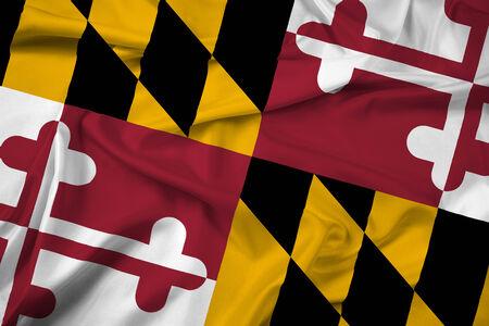 maryland: Waving Maryland State Flag