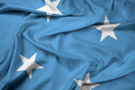 Waving Micronesia Flag photo
