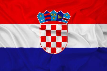 croatia flag: Waving Croatia Flag
