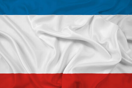 Waving Autonomous Republic of Crimea Flag photo