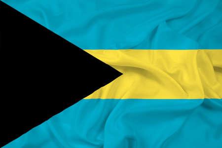bahamas celebration: Waving Bahamas Flag Stock Photo
