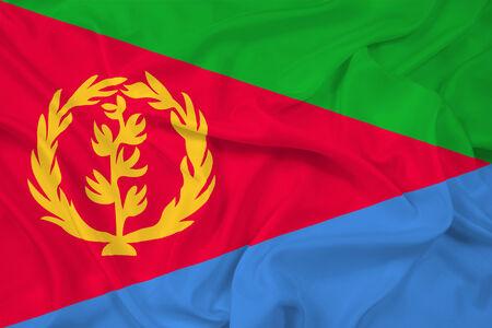 eritrea: Waving Eritrea Flag