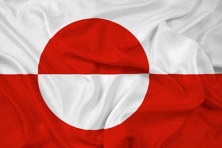 Waving Greenland Flag photo