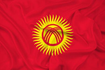 kyrgyzstan: Waving Kyrgyzstan Flag