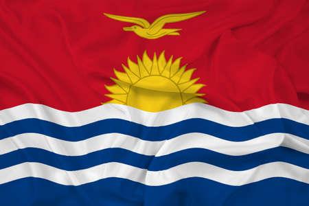 kiribati: Waving Kiribati Flag