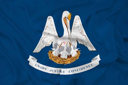 louisiana flag: Waving Louisiana State Flag