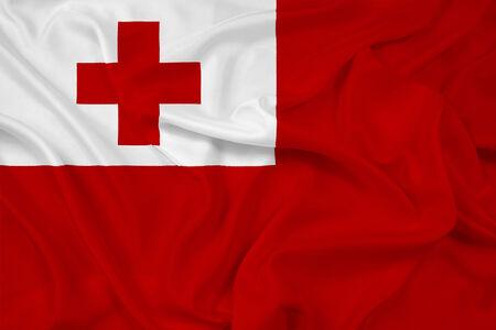 tonga: Waving Tonga Flag Stock Photo