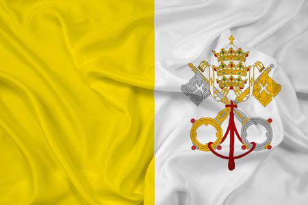 Waving Vatican City Flag