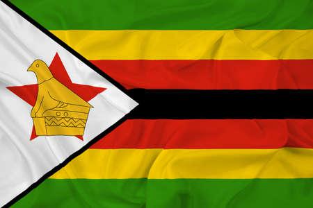 zimbabwe: Waving Zimbabwe Flag