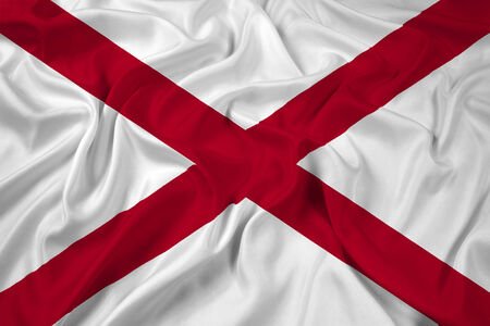alabama flag: Waving Alabama State Flag Stock Photo