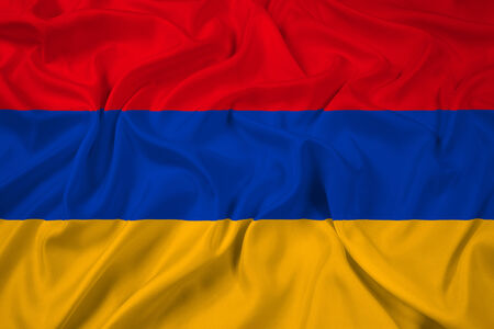 Waving Armenia Flag photo