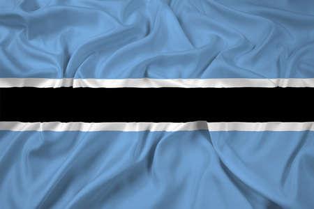 botswana: Waving Botswana Flag Stock Photo