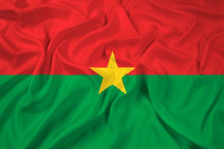 burkina faso: Waving Burkina Faso Flag