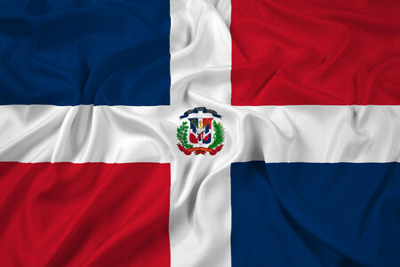 dominican republic: Waving Dominican Republic Flag