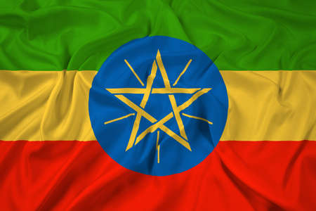 Waving Ethiopia Flag photo