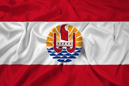 french polynesia: Waving French Polynesia Flag