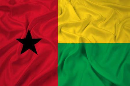 guinea bissau: Waving Guinea Bissau Flag