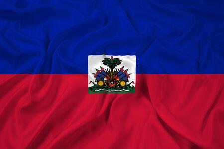 Waving Haiti Flag photo