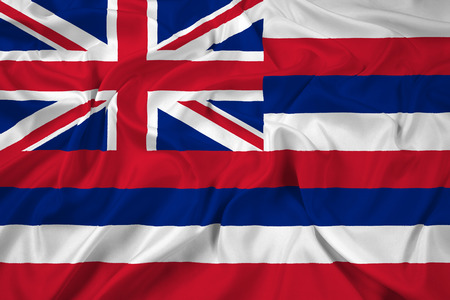 Waving Hawaii Flag photo