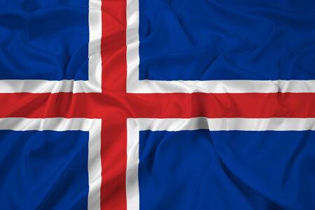 cotton velvet: Waving Iceland Flag