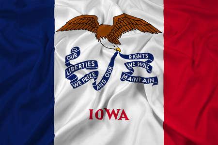Waving Iowa State Flag photo