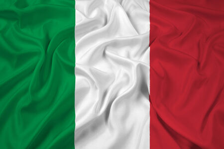 italien flagge: Winken Italien-Flagge