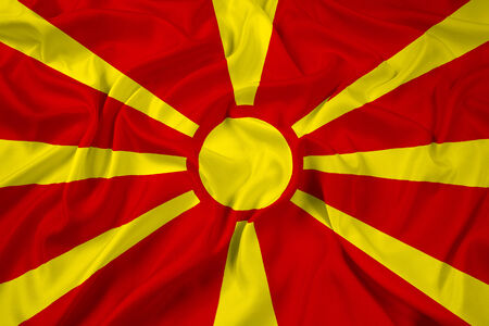 macedonia: Waving Macedonia Flag Stock Photo