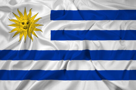 uruguay flag: Waving Uruguay Flag