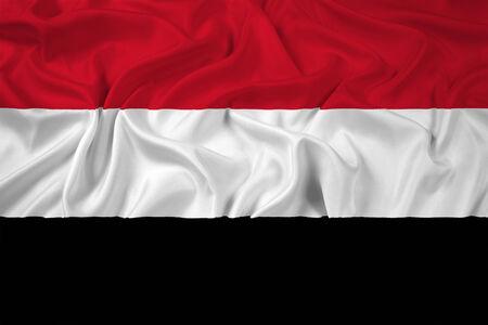 yemen: Waving Yemen Flag