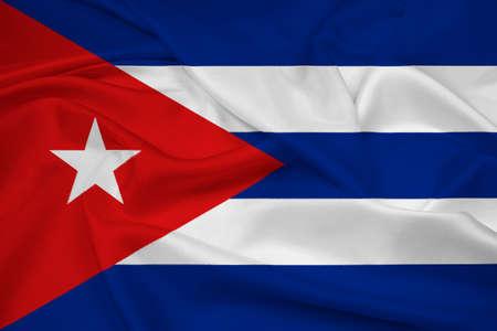 bandera cuba: Waving Flag Cuba Foto de archivo