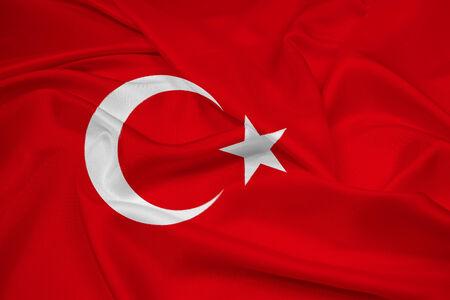 Waving Turkey Flag photo