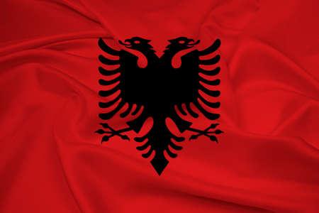 albania: Waving Albania Flag