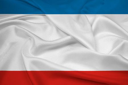 oblast: Waving Autonomous Republic of Crimea Flag