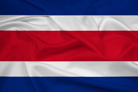 costa: Waving Costa Rica Flag