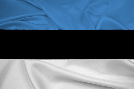 cotton velvet: Waving Estonia Flag