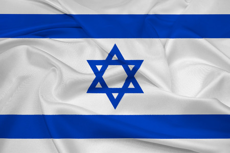 Waving Israel Flag photo